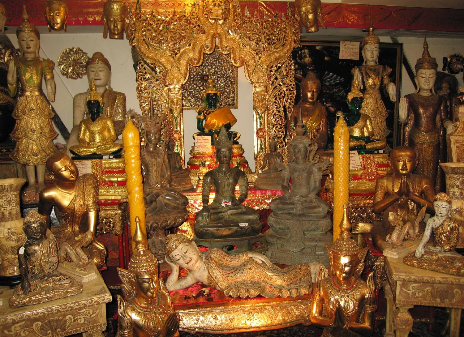 Buddhist altar at Bali Beach Museum Shop